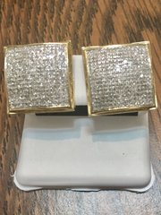 10KT Yellow Gold 1.20CT Diamond And Earring