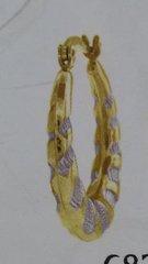 Lady hoop earrings solid yellow Gold 10 K