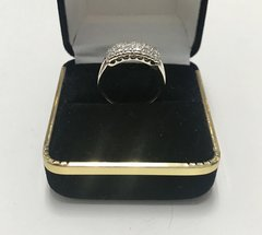 10KT Solid White Gold, Real Diamond Lady Rings, E224