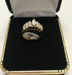 14K Solid Yellow Real Diamond Lady Rings E101