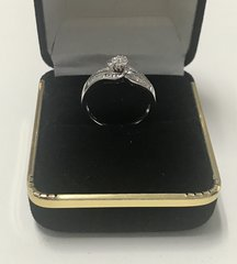 10KT Solid White Gold. Real Diamond Lady Rings, E203