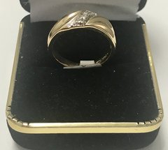 14KT Solid Yellow Gold, Real Diamond Man Rings, E179