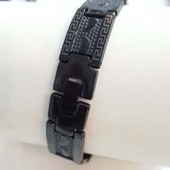 Pure Stainless Steel bracelets black tone W218754