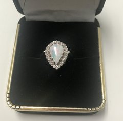 14KT Solid White Gold, Real Diamond Lady Rings, E202