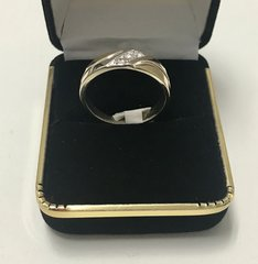 14KT Solid Yellow Gold, Real Diamond Man Rings, E183
