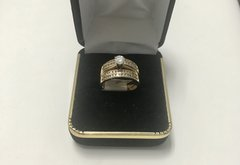 14KT Solid Yellow Gold, Real Diamond Lady Rings, E164