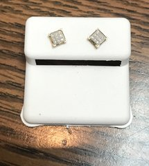 10kt yellow .15ct diamond earring