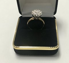 14KT Solid Yellow Gold, Real Diamond Man Rings, E195