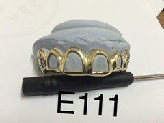 6 Open face diamond cuts gild Teeth