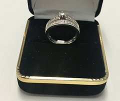 14KT Solid White Gold, Real Diamond Lady Rings, E221