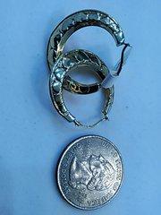 Hoop earrings 10 K solid yellow Gold lady/women