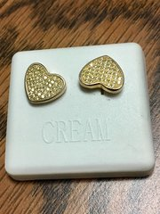 Sterling Silver Yellow Color, A00085-12YG, Screwback Earring