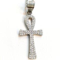 Pure Stainless steel chains and charm With crystal