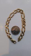 14 Kt Solid yellow Gold men link bracelet