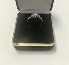 10KT Solid White Gold , Real Diamond Lady Rings, E204