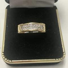 18KT Solid Yellow Gold, Real Diamond Man Rings, E178