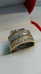 Men 10K Solid Yellow Gold with CZs rings xz