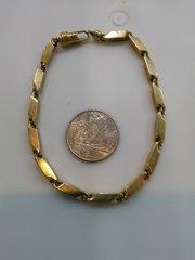 10 K brick bold SOLD yellow Gold men bracelet