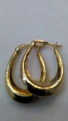 Lady Hoop earrings 14 K yellow Gold =#c
