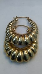 10 K solid yellow Gold lady earrings, hoop earrings