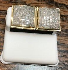 10kt yellow gold diamond Earring