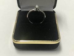 14KT Solid White Gold, Real Diamond Lady Rings, E206