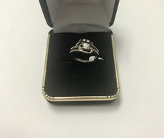 14KT Solid White Gold, Real Diamond Lady Rings, E150