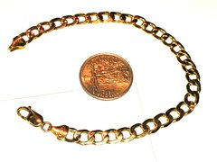 10 SOLD yellow Gold men bracelet link small
