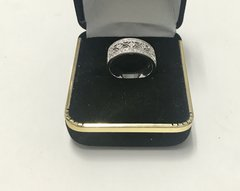 14KT Solid White Gold, Real Diamond Lady Rings, E155
