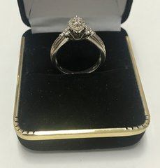 10KT Solid Yellow White Gold, Real Diamond Lady Rings, E220