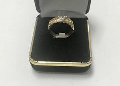 14KT Solid Yellow Gold, Real Diamond Lady Rings, E166