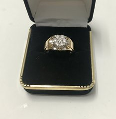 10KT Solid Yellow Gold, Real Diamond Man Rings, E193