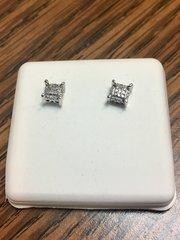 10KT White Gold 1.20 CT Diamond Earring
