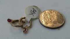 Hoop earrings, lady earrings, yellow Gold, 10 K,.n
