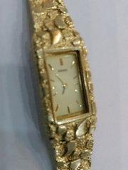 10 K solid Women nugget Watch bracelet SOLD yellow Gold