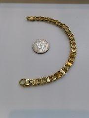 10kt Solid yellow Gold men link bracelet