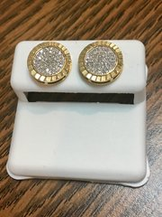 10KT Yellow Gold 0.24 CT Diamond Earring