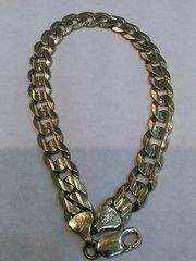 10 SOLD yellow Gold men bracelet link 6 mms