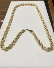 10KT Solid Yellow Gold Rope , 10 MM, 32 inches