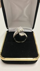 14K Solid Yellow Gold Real Diamond lady Ring