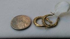 Hoop earrings, lady earrings, yellow Gold, 10 K,xdr