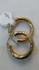 """14 K Hoop earrings solid yellow Gold :;"""""""