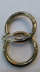 Hoop women 10k earrings solid yellow Gold ,!,