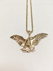 10KT Solid Yellow Gold Beats Chain With Eagle Charm, E0773