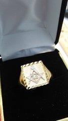 10 K Mason solid yellow Gold men ring