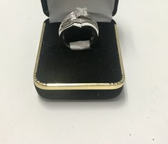14KT Solid White Gold, Real Diamond Lady Rings, E153