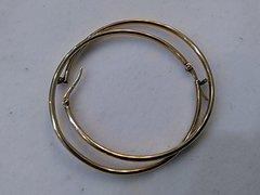 Lady hoop earrings 10 K solid yellow Gold