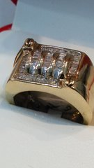 10 K Real diamonds solid yellow Gold men ring cx