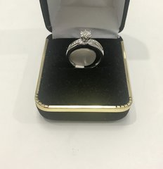 10KT Solid White Gold, Real Diamond Lady Rings, E147
