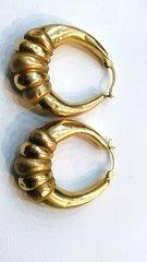 Lady hoop 10K earrings yellow Gold